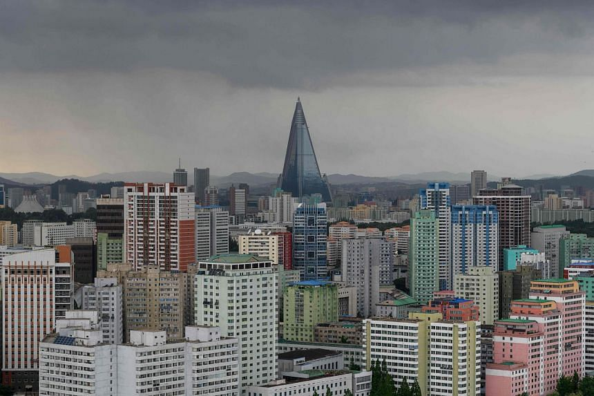 The city skyline of Pyongyang. North Korea has been under sanctions by the United Nations since 2006, making it illegal to sell, among other things, luxury items to the country.