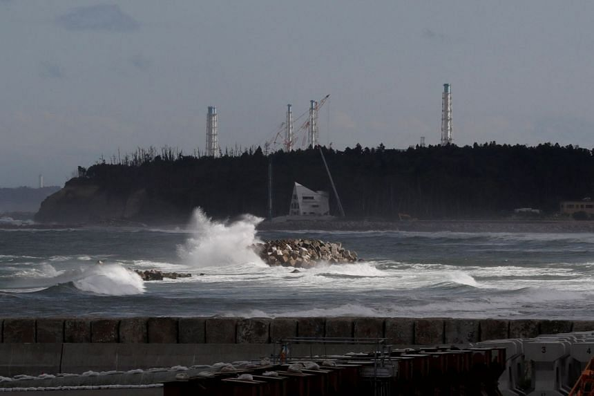 The tsunami-crippled Fukushima Daiichi nuclear power plant is seen on May 19, 2018. A group of nuclear physicists say they have stumbled on Fukushima's signature in Northern California wine.