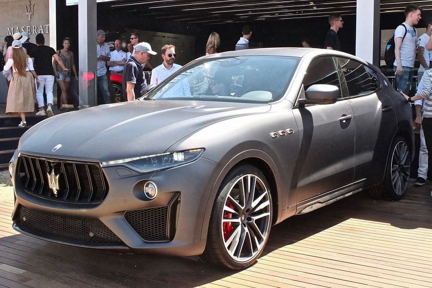 The Maserati Levante Trofeo (above) is powered by a Ferrari-sourced V8 twin-turbo engine, churning out 590hp.
