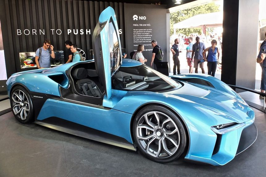 (Above) China's Nio EP9 electric supercar clocked a hill-climb time of 44.32 seconds.