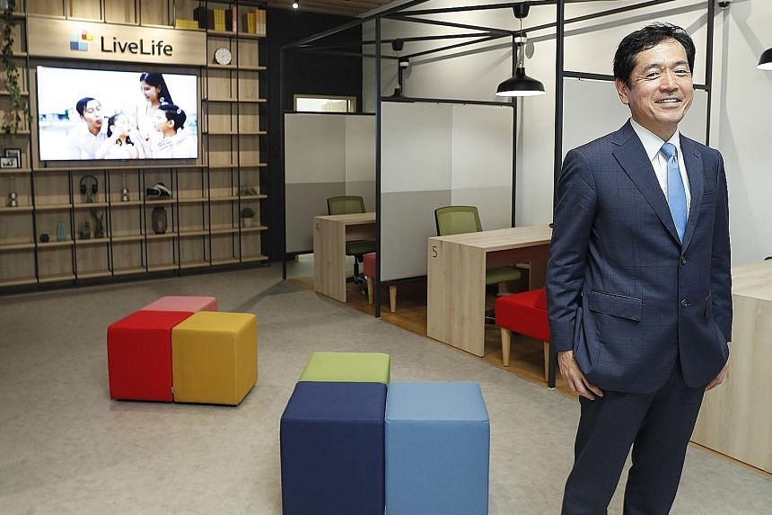 Sony Life Financial Advisers managing director and CEO Fumio Aono says the new LiveLife store gives consumers an option to meet relationship managers in a comfortable area at their convenience. Families looking for life protection are the firm's targ