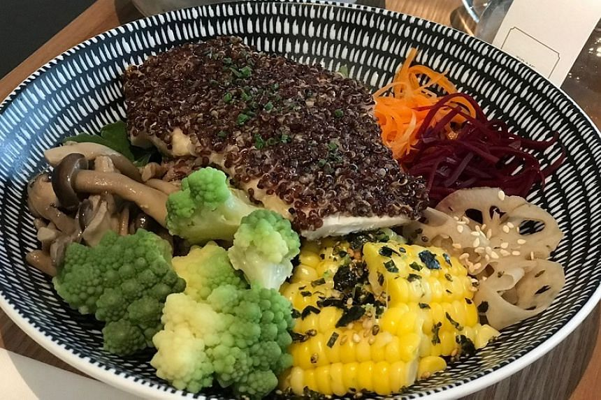 The Clan Cafe is stylish, but its food is just passable - mostly ordinary sticky rice bowls decorated with assorted vegetables and proteins.