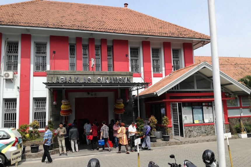 The warden of Sukamiskin prison (pictured), along with five others, was arrested on charges of bribery by Indonesia's Corruption Eradication Commission.