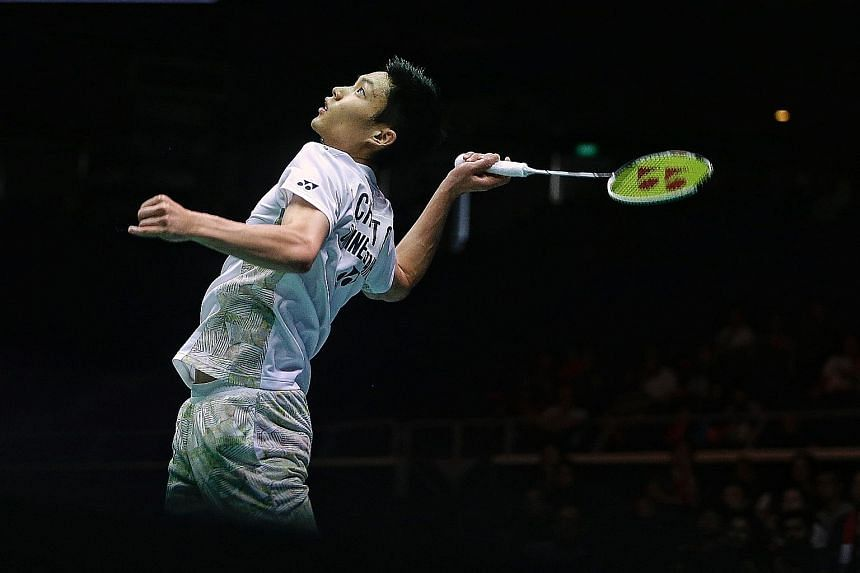 Men's singles champion Chou Tien-chen is one of the few top-10 players to play in Singapore before heading for the World Championships.