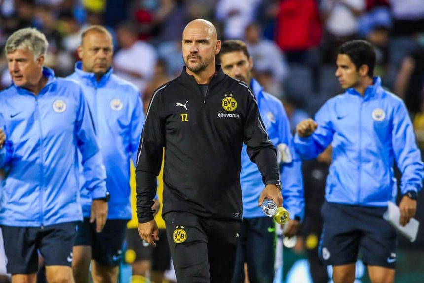 Manchester City coach Pep Guardiola's title-winning squad had 16 players at the tournament in Russia. The majority of the first-team players have yet to resume full training.