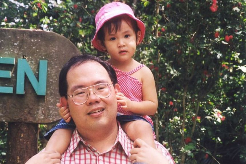 Dr Chao with Beatrice when she was two years old.