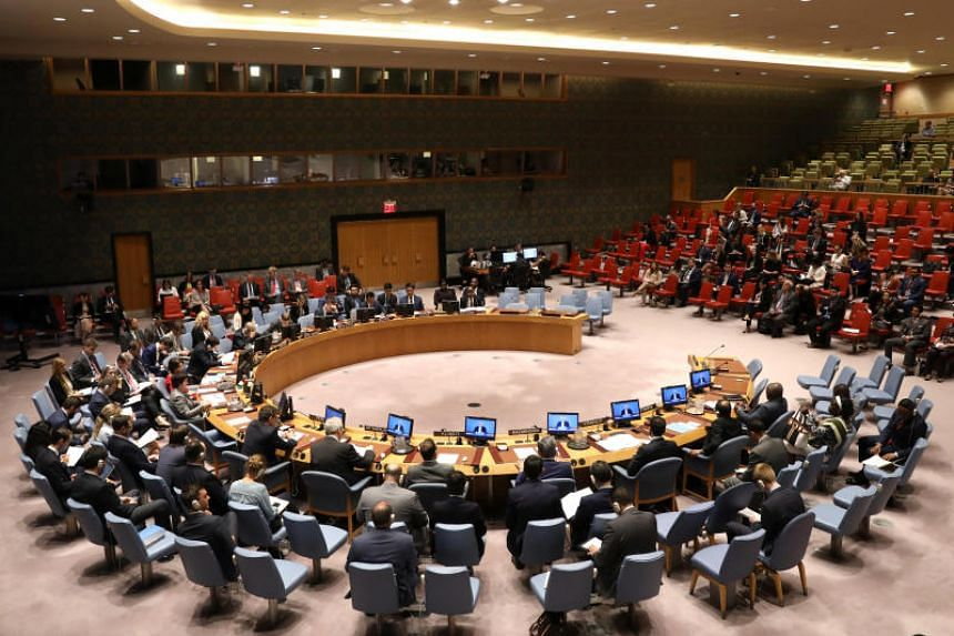 File photo showing a United Nations (UN) Security Council meeting at the UN headquarters in New York, on May 23, 2018.