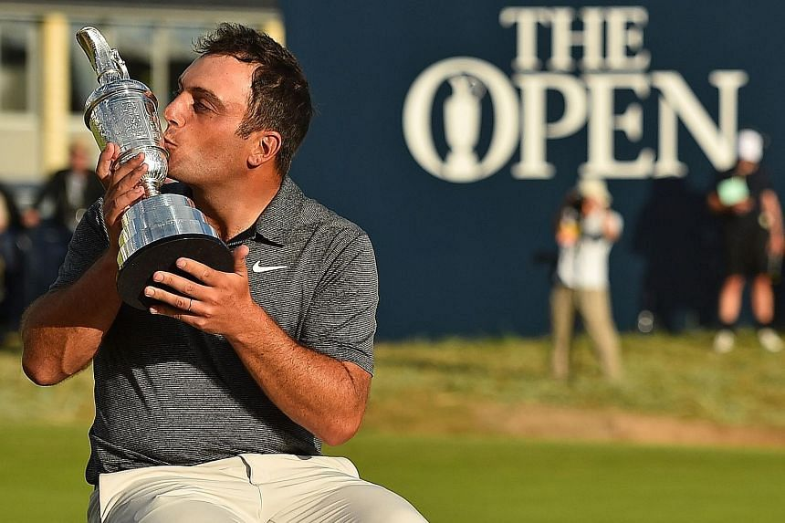 Francesco Molinari of Italy kisses the Claret Jug at Carnoustie, Scotland on Sunday, after winning The Open by two strokes. When asked how he would celebrate, he confessed that he would probably have to cancel his budget flight back to London.