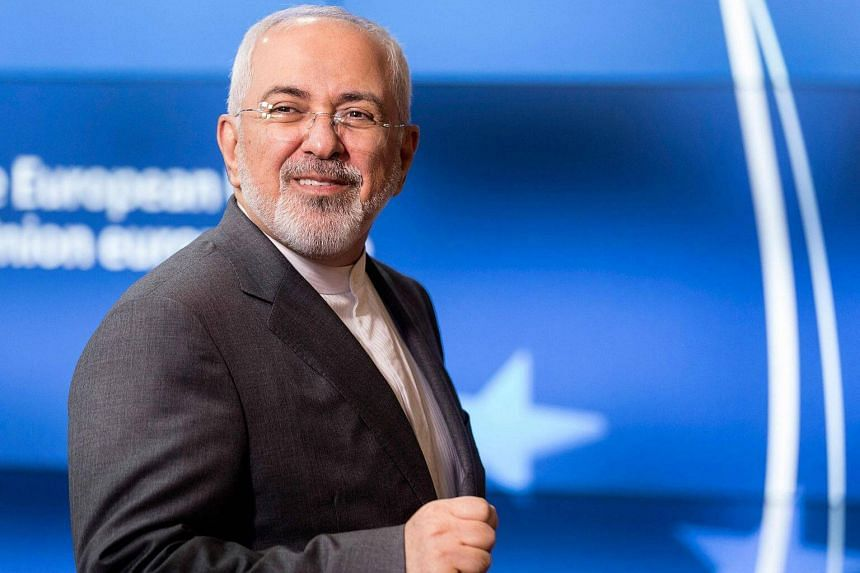 Iranian Foreign Minister Mohammad Javad Zarif arrives at the EU headquarters in Brussels ahead of a meeting on May 15, 2018.
