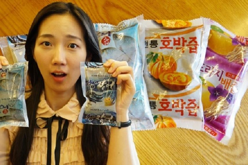 """Plastic pouches of """"nutritional extracts"""" found in South Korea."""