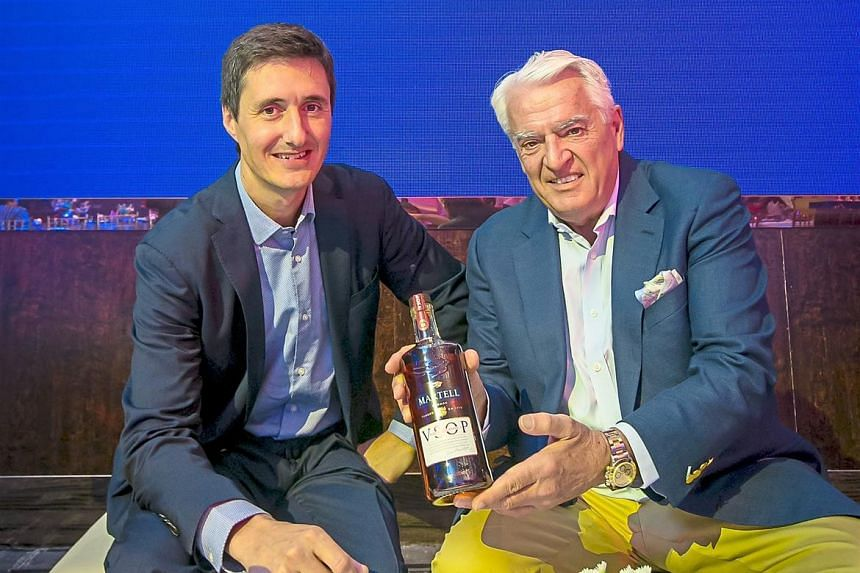 Martell Cellar Master Christophe Valtaud (left) and Martell Heritage Director Jacques Menier were in Malaysia recently to launch the new VSOP.