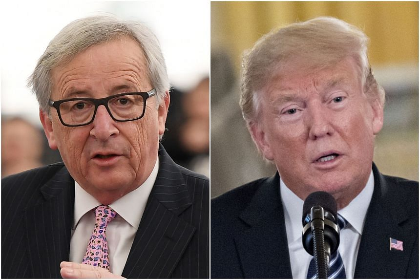 """The last meeting between US President Donald Trump (right) and European Commission President Jean-Claude Juncker did not end well, with the former naming the latter as """"a brutal killer""""."""