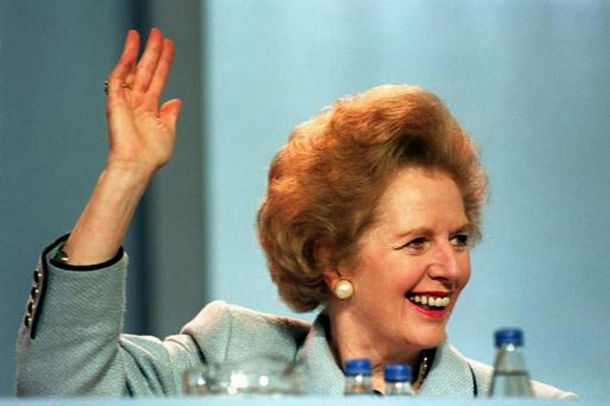 File photo showing British Prime Minister Margaret Thatcher in 1989. Her habit of napping on car journeys prompted her office to design a headrest for her Daimler to protect her neck if the car braked suddenly.