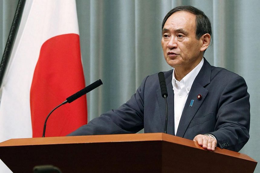 """Japan is not going to do anything with any country that harms the national interest,"" said Chief Cabinet Secretary Yoshihide Suga."