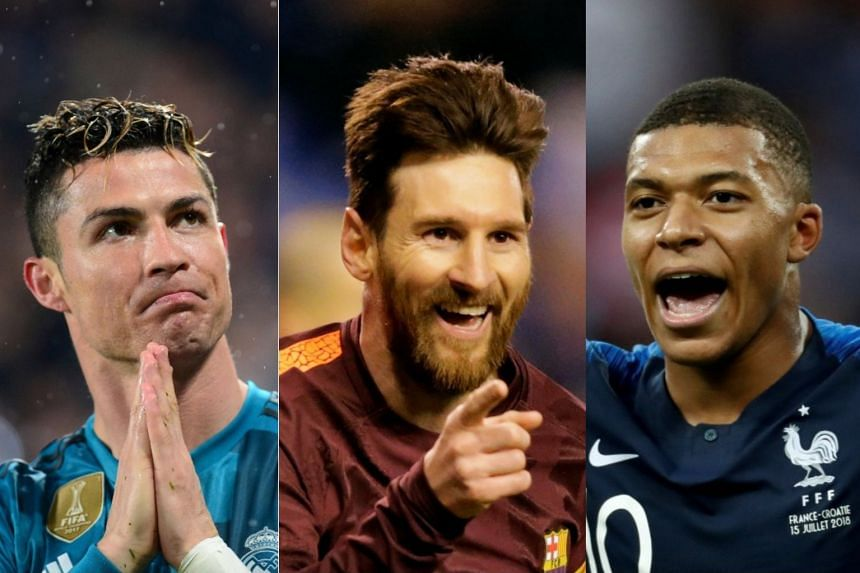 (From left) Ronaldo, Messi and Mbappe are on the shortlist.