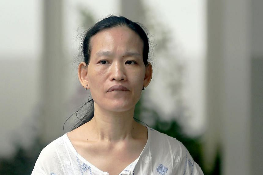 Hawker stall owner Cai Mei Ying (pictured) was ordered to pay 77-year-old Ang Ah Soi $7,000 in compensation.