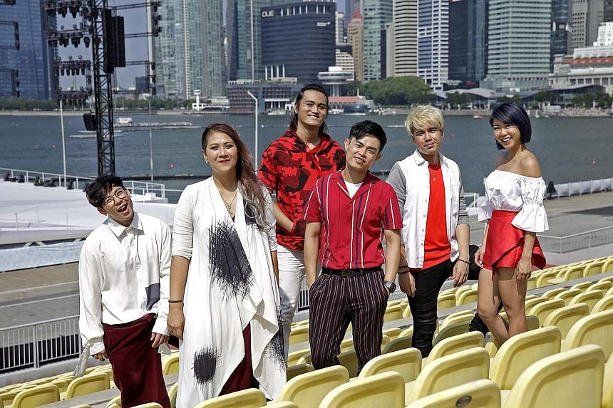 MICappella members (from left) Goh Mingwei, Calin Wong, Peter Huang, Juni Goh, Eugene Yip and Tay Kexin. Their medley of National Day songs caught the attention of PM Lee Hsien Loong last year.