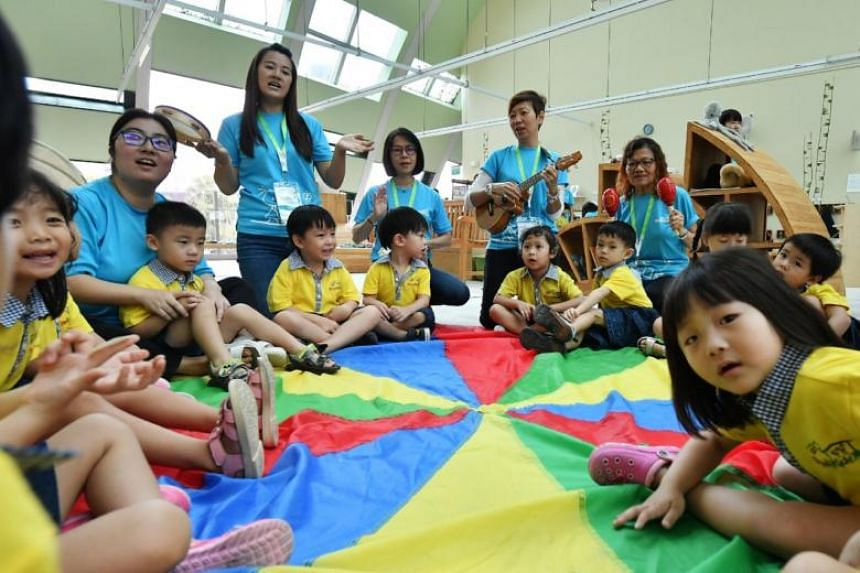 Skool4Kidz's large childcare centre at Sengkang Riverside Park, which can take in about 460 pupils, is one of nine large childcare centres already in operation here.