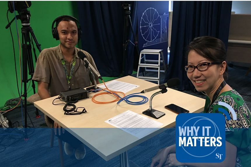 ST's senior tech correspondent Irene Tham (right) discusses the recent SingHealth data breach, cyber security and cyber hygiene with Why It Matters podcast host Ernest Luis (left).