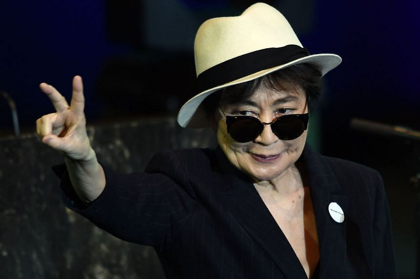 File photo showing Japanese multimedia artist, singer, and peace activist Yoko Ono, who is releasing a new album at age 85 as she felt that her lifelong message of peace was sorely needed in 2018.