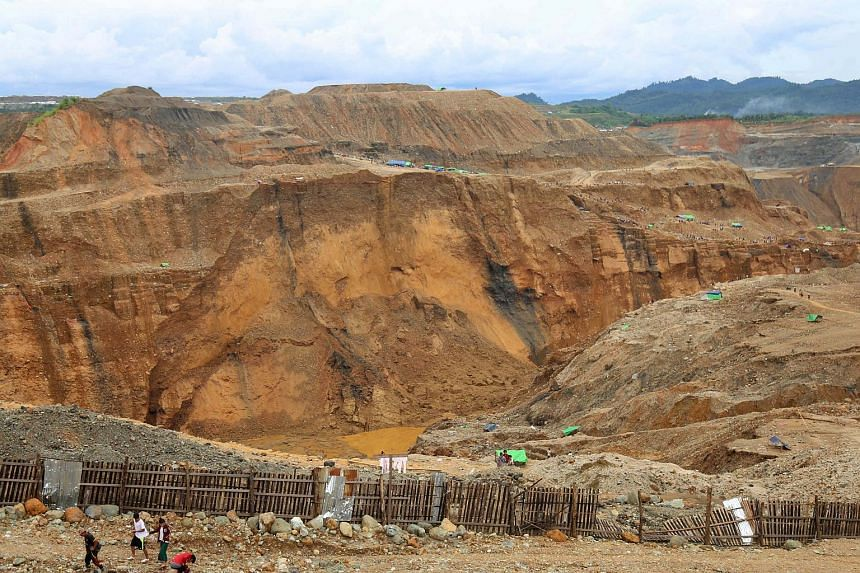 A view of the Hpakant jade mining area. Dozens of people have been killed by landslides this year in the Hpakant region of Kachin state.