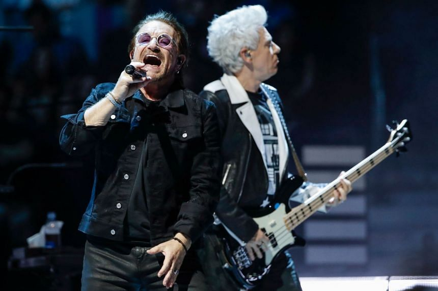 Irish rockers U2, which include Bono (left) and Adam Clayton (right), are No. 1 on this year's Money Makers list, while Lady Gaga, on stage last month at the MTV Movie & TV Awards in Santa Monica, is the highest ranking woman on the list, at No. 6.