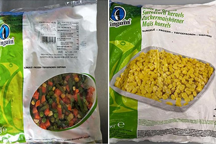 The affected food products are frozen mixed vegetables and sweet corn kernels under the Pinguin brand.