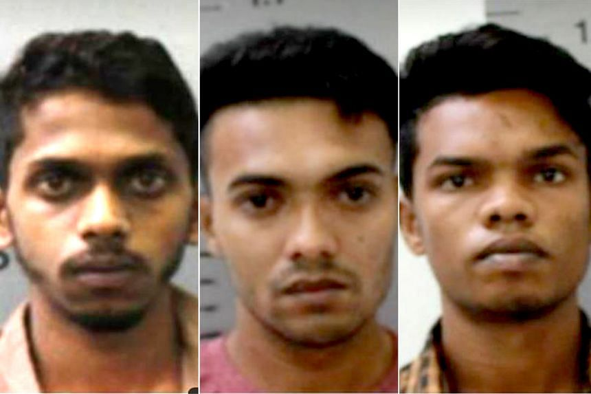 From top: Nalliah Selvamany Rohan, Kanthanadan Jasitharan and Roopan Diasrepinsan were arrested on June 27.