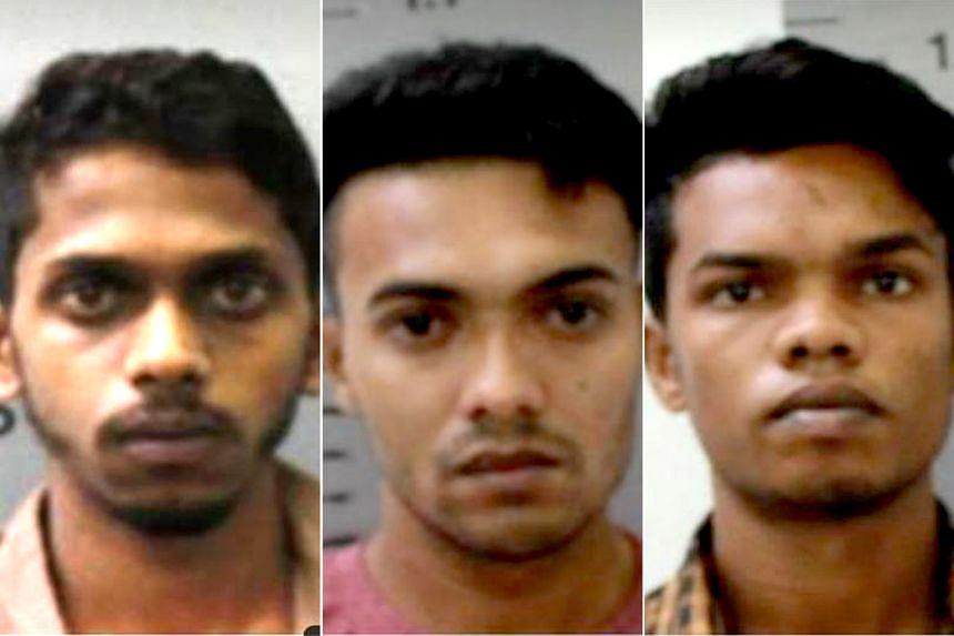 From top: Nalliah Selvamany Rohan, Kanthanadan Jasitharan and Roopan Diasrepinsan were arrested on June 27.