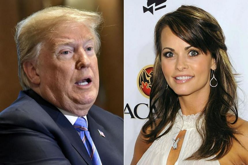 The recording involves Ms Karen McDougal (right), a former Playboy model who says she had a months-long fling with US president Donald Trump after they met in 2006.