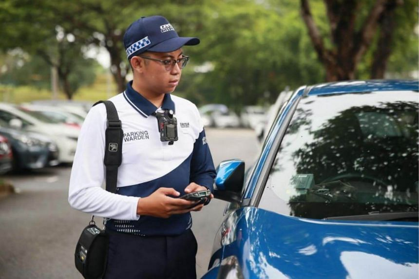 Parking wardens will don a new uniform comprising a dri-fit polo shirt and cargo pants from Aug 1, 2018.