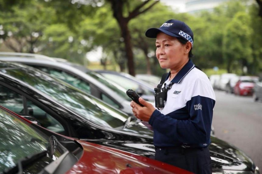 The new uniform allows parking wardens to cope better with Singapore's hot and humid weather, and factors such as safety, durability and comfort were taken into consideration during the design process.