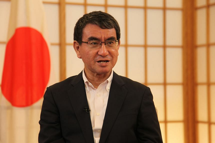 Japanese Foreign Minister Taro Kono speaks to The Straits Times' Japan Correspondent Walter Sim in an interview ahead of his visit to Singapore to attend meetings with his counterparts from Asean and its regional partners.