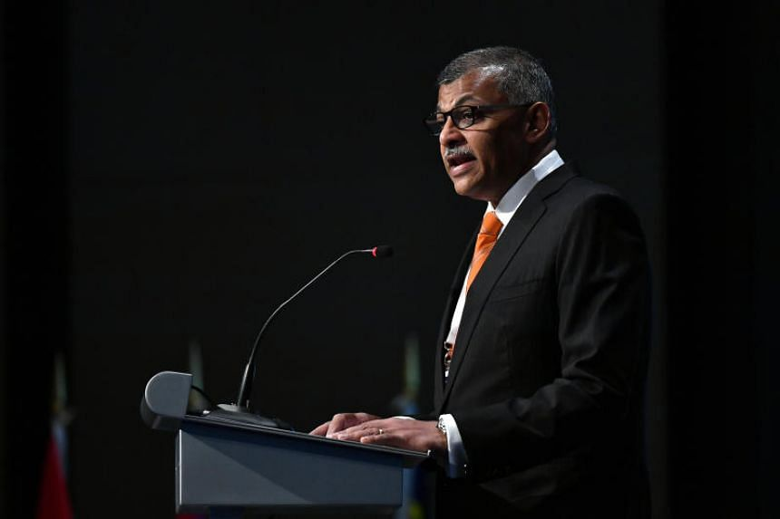 Chief Justice Sundaresh Menon delivering a speech at the Asean Law Conference on July 26, 2018.