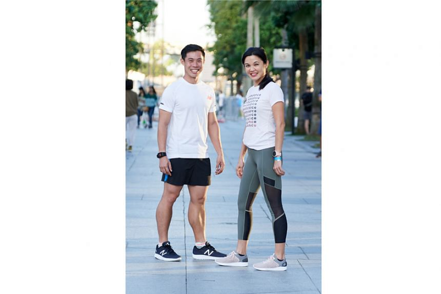 Loh Guo Pei (left) and Jenny Huang were two runners who got to test New Balance's new performance shoes on July 25, 2018. The athletics brand is the ST Run's official sportswear sponsor.