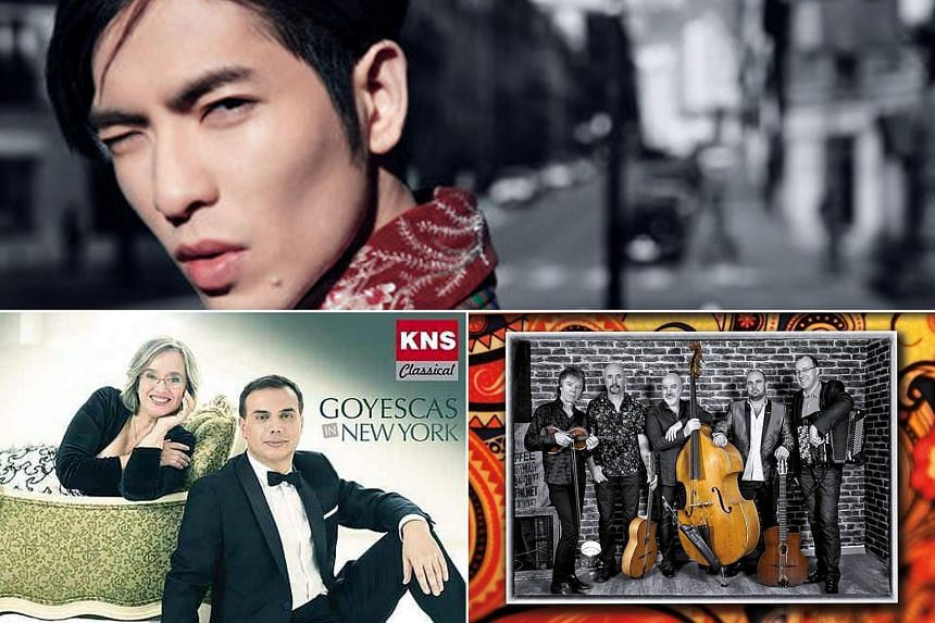 Clockwise from top: Reflection of desire by Jam Hsiao, Attitude Manouche by The Diango Festival AllStars, Goyescas In New York Piano Duo by Carles & Sofia.