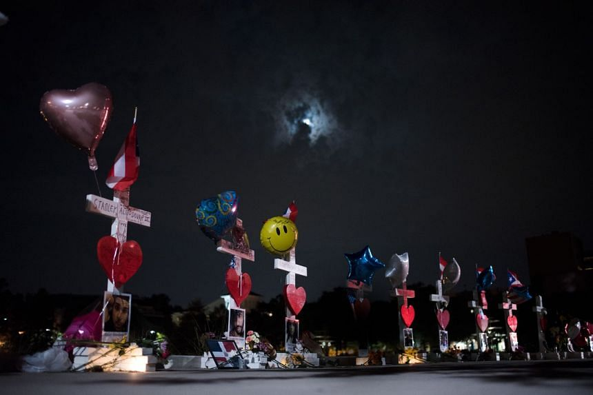Crosses left in memory of the victims of the 2016 shooting at Pulse nightclub, in Orlando. The debate between a connection linking terrorism and mental illness continues as some experts say militant ideologies can offer a compelling narrative to vuln