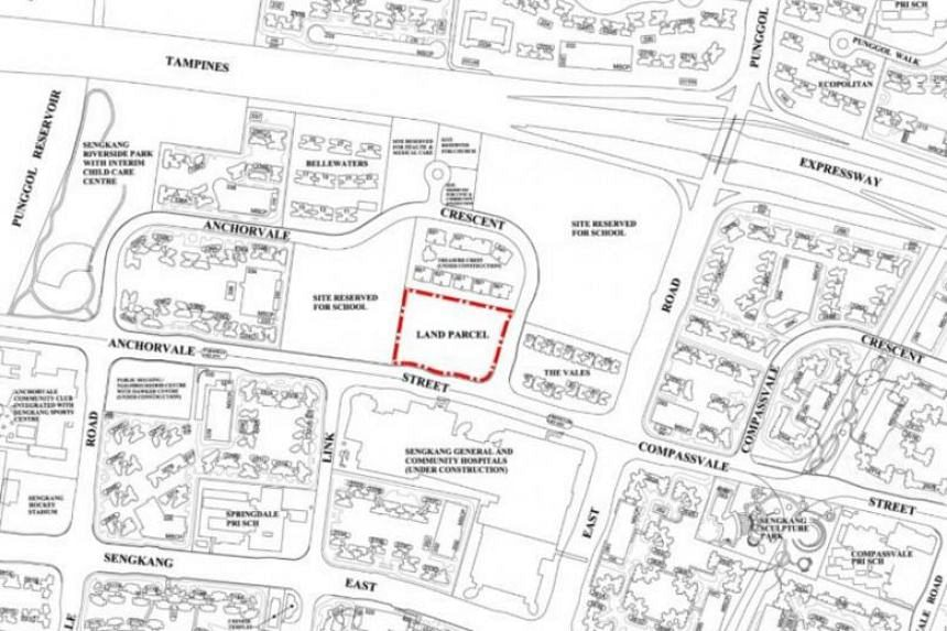 The land parcel in Anchorvale Crescent was first made available for sale on the reserve list of the first half of the 2018 Government Land Sales programme on June 28.