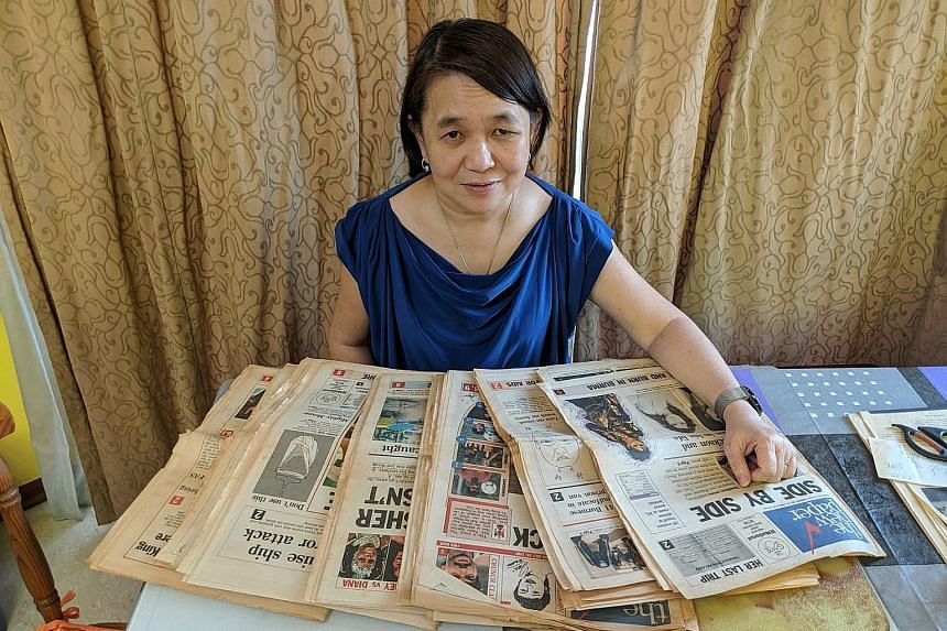Singapore Polytechnic senior lecturer Trudy Lim was part of the team that conceived and launched The New Paper in 1988. She spent nearly 18 years at TNP before joining the polytechnic to teach journalism, but still keeps old copies of the newspaper.