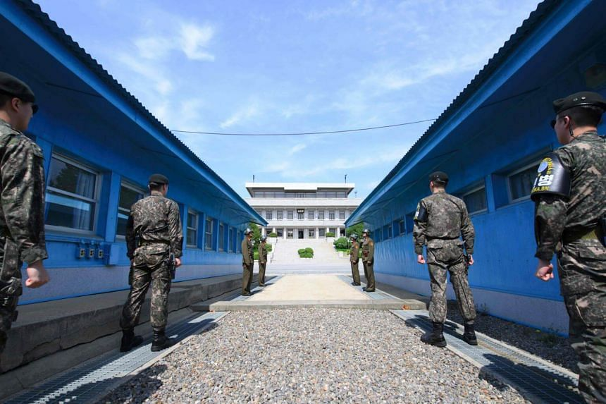 The truce village of Panmunjom in the Demilitarized zone, where North and South Korea will hold military talks on July 31, 2018.