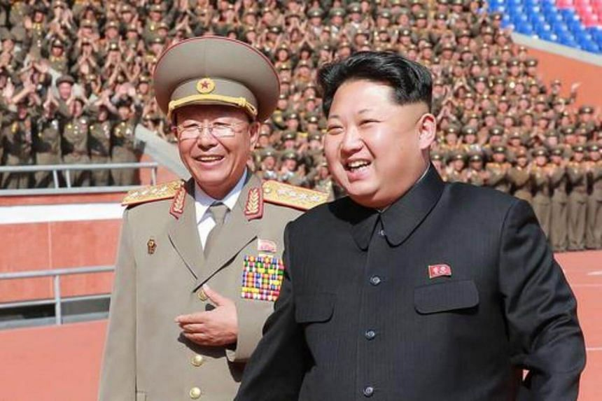 North Korean leader Kim Jong Un (right) with General Ri Yong-Gil, who has become the new chief of the military's general staff of the hermit kingdom.