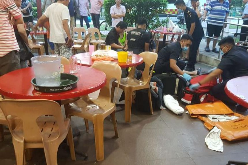 Navy serviceman Mark Lim, 32, performed cardiopulmonary resuscitation (CPR) for seven minutes to revive the woman. She was unconscious when she was taken to Khoo Teck Puat Hospital by the SCDF.