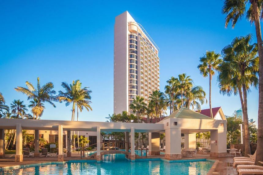 The Surfers Paradise resort includes the 269-room Crowne Plaza Hotel, management rights for the 104-room Gold Tower and Queensland's only revolving restaurant.