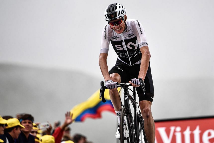 Briton Chris Froome endured a horror stage 17 on Wednesday. He finished eighth and almost crashed out of the Tour after being knocked off his bike when a policeman mistook him for one of the thousands of cycling fans paddling along the competitors.