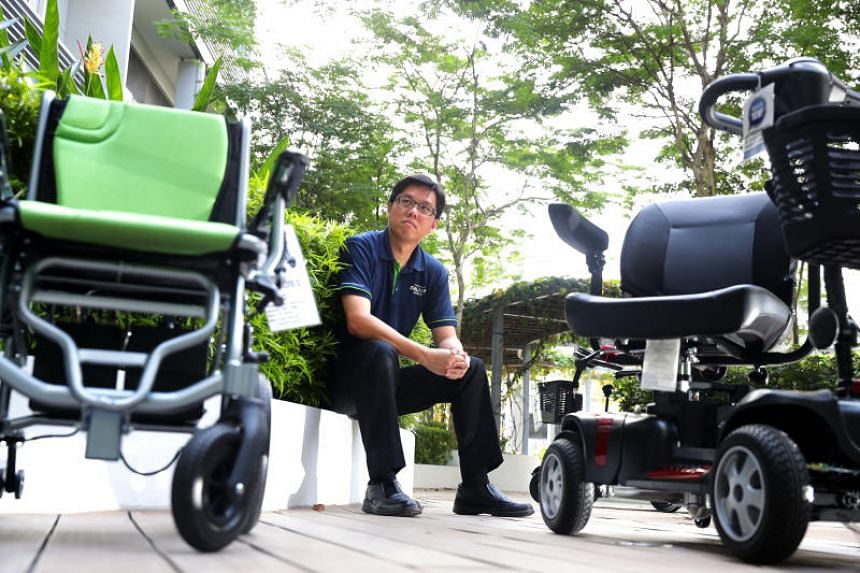 Mr Warren Chew (above), managing director of Falcon Mobility, said that if current weight restrictions on personal mobility devices are extended to personal mobility aids (PMAs), many legitimate PMAs sold here will become illegal.