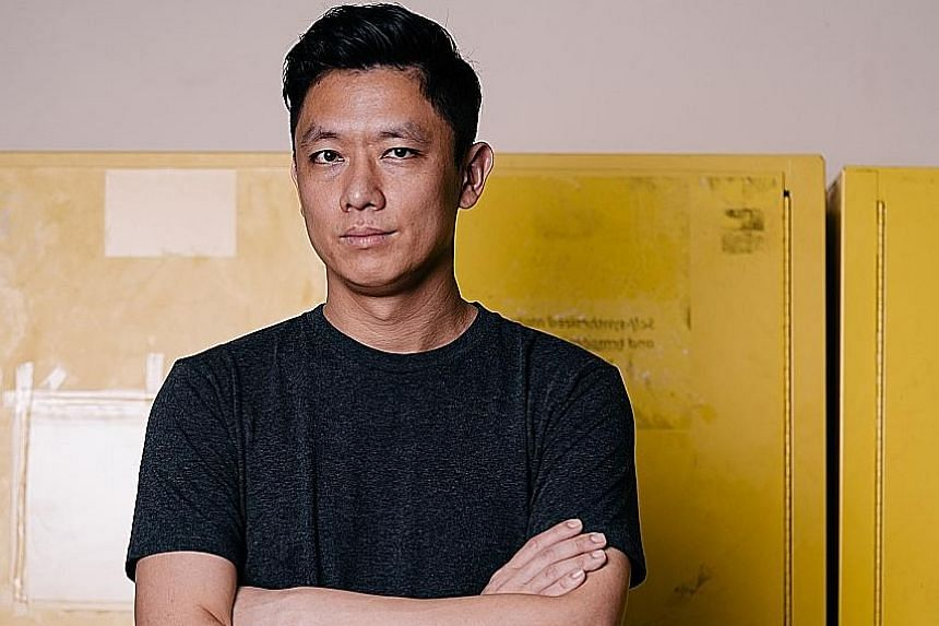 Designer Hans Tan (above) and his Striped Ming collection.