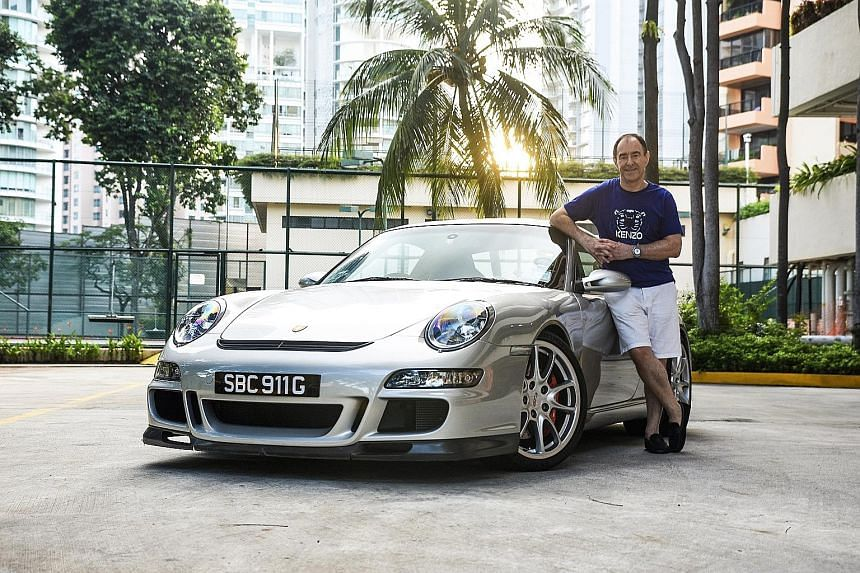Mr Brian Francis Whillock loves how the engine of his Porsche 911 GT3 sounds at high revs.