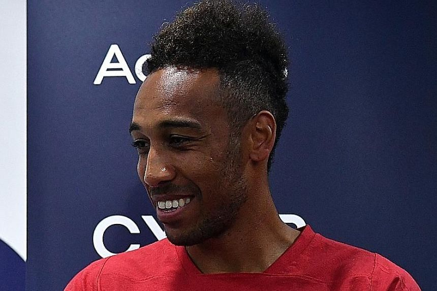 Arsenal striker Pierre-Emerick Aubameyang revealing his obsession with speed yesterday.