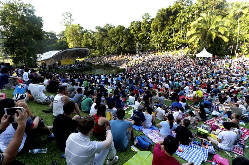 Attendees at The Straits Times Concert in the Gardens at the Singapore Botanic Gardens enjoyed an hour-long performance by the Singapore Symphony Orchestra on July 22, 2017.