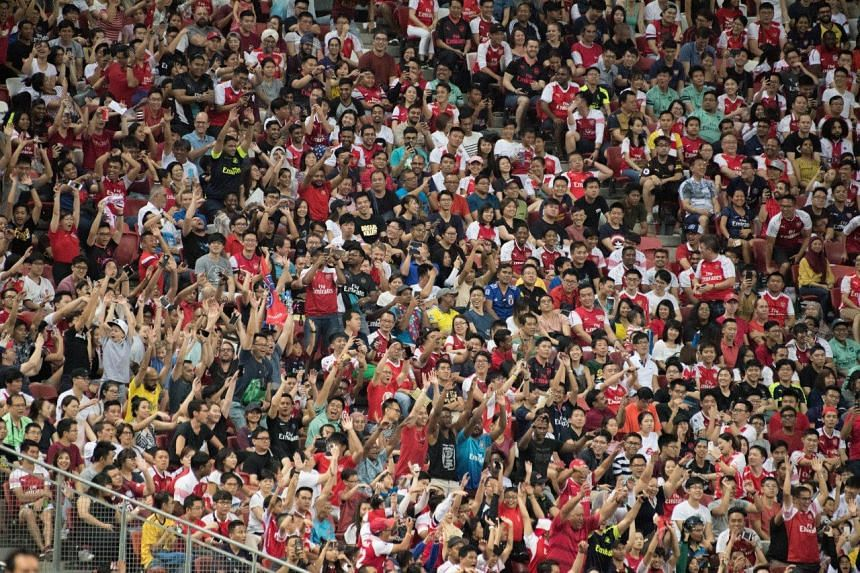 The 50,308 people in attendance is a new record for the Singapore leg of the International Champions Cup.
